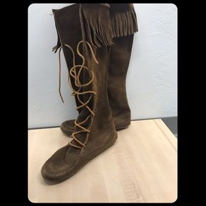Vintage Minnetonka Suede Lace up Boots - S7
